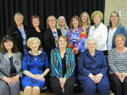 Past Rose Frolik recipients at 2016 luncheon.