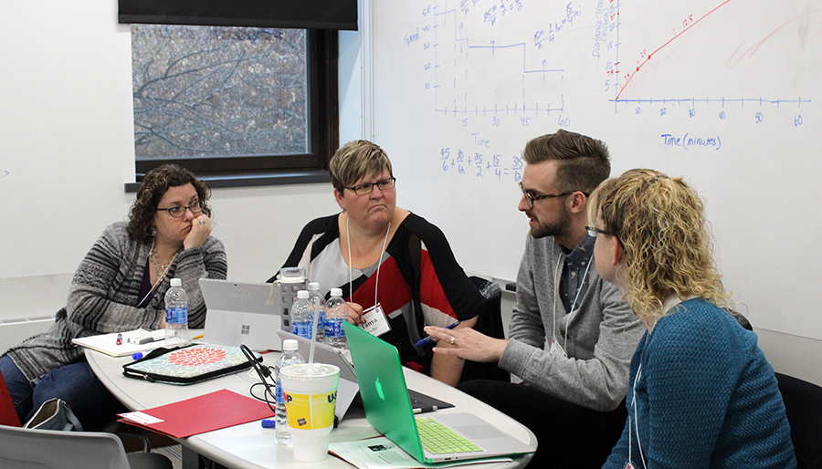 TEAMS teacher leaders discuss a math lesson.