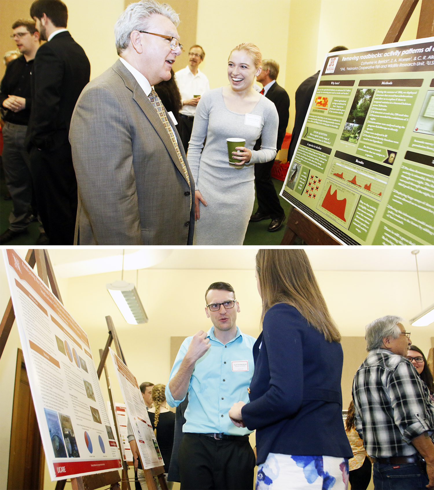 Cat Berrick (top photo) presents her research to Speaker of the Unicameral Jim Scheer; below, Curt Vandenberg presents his research to Sen. Anna Wishart, District 27, on Thursday morning at the Nebraska State Capitol in Lincoln. | Shawna Richter-Ryerson,