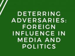 Please join us in the Union Auditorium to discuss foreign influence in the American Media and Politics!