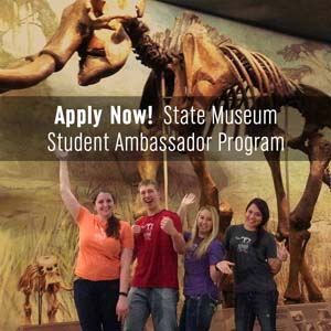 The University of Nebraska State Museum – Morrill Hall is accepting applications through April 14, 2017 for the 2017-2018 Museum Ambassador Program.