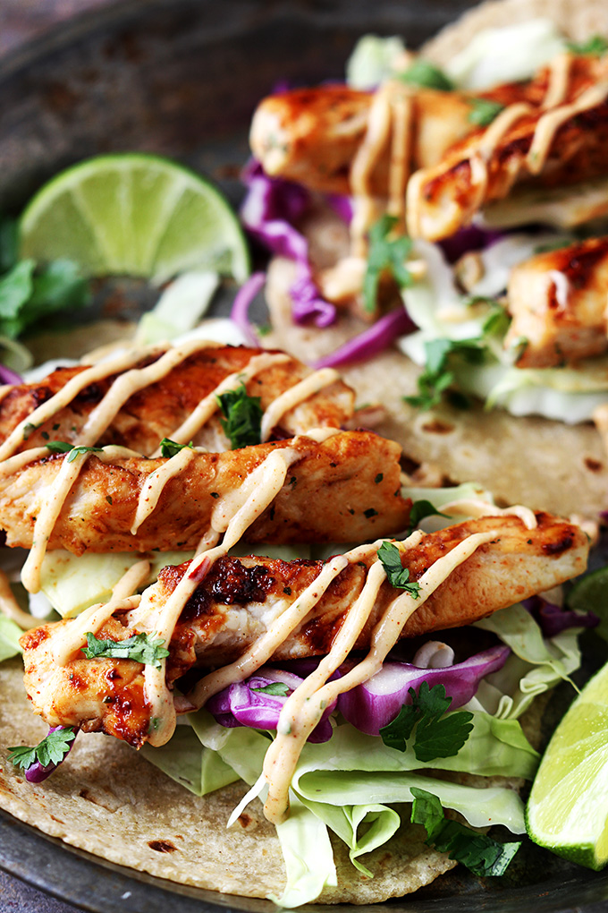 Crockpot Jerk Chicken Tacos