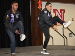 Members of Sigma Lambda Beta perform a stroll at an event earlier in the year.