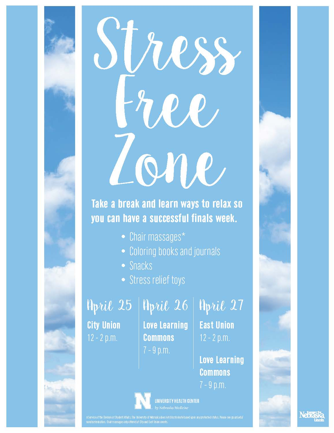 Stress Free Zone flier