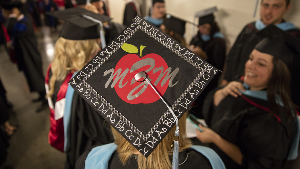 The graduate and professional degrees ceremony is 3 p.m. May 5 at Pinnacle Bank Arena; the undergraduate ceremony is 9:30 a.m. May 6 at PBA; and the College of Law ceremony is 3 p.m. May 6 at the Lied Center for Performing Arts. | University Communication
