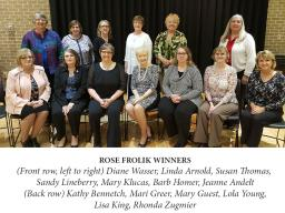 2017 meeting: Rose Frolik awardees and past UNOPA presidents