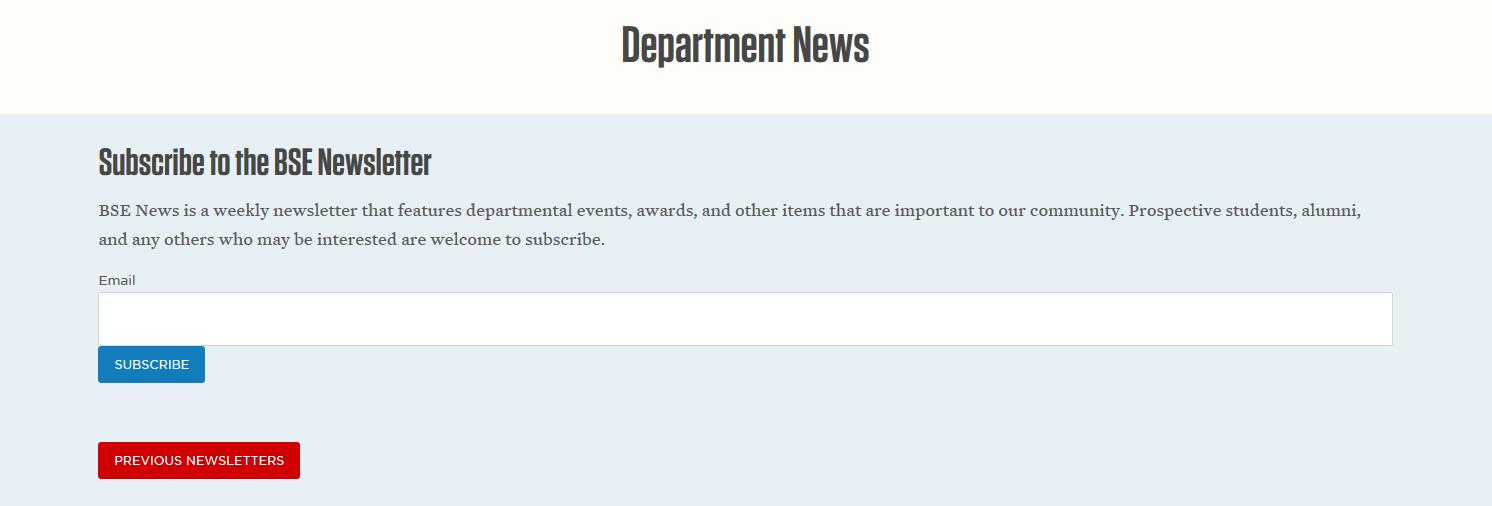 Newsletter website