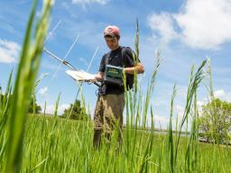 A biological sciences graduate student conducts research near the Cedar Point Biological Station in 2015. Dr. Mark D. Baxa and his wife, Deb, have donated $570,000 to the University of Nebraska Foundation for scholarships, fellowships and a new cabin at t