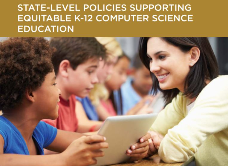 A new report surveys state-level efforts to improve access to K-12 computer science education opportunities in the United States.