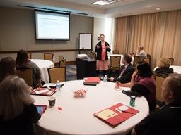 Wendy Smith presents a breakout during 2015 Noyce Conference.