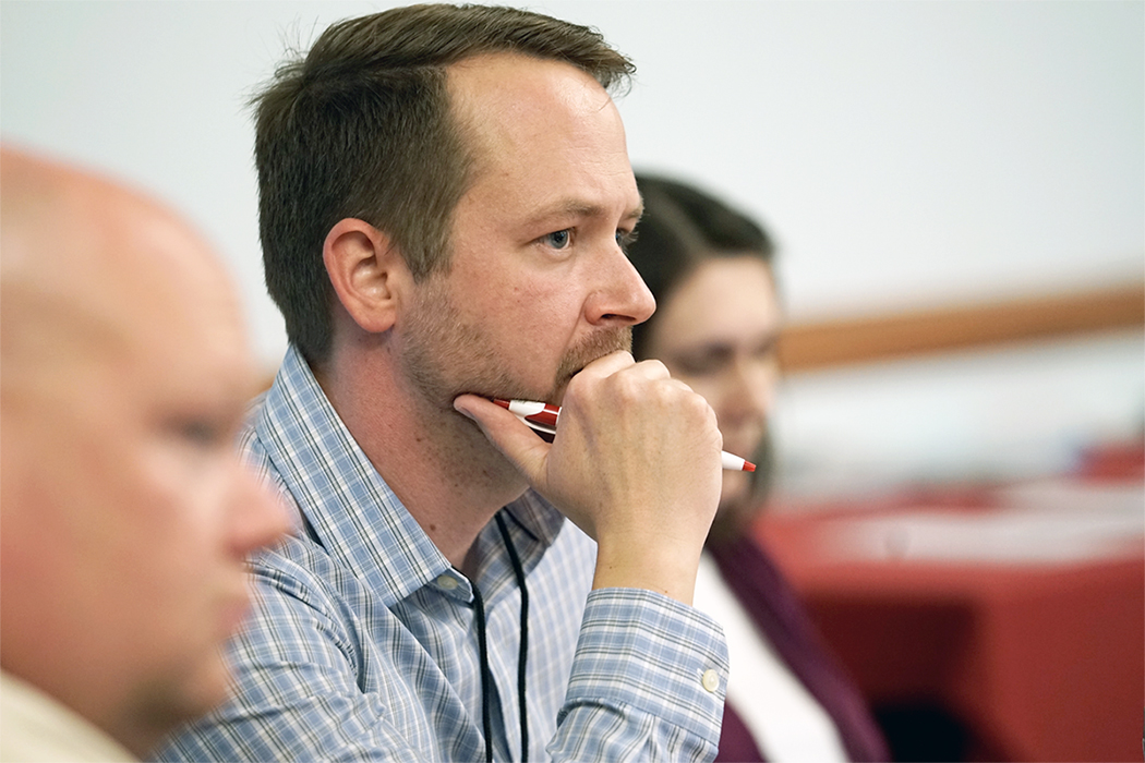 A participant pays close attention during a session at the climate and planning workshop by the High Plains Regional Climate Center, Nebraska State Climate Office and Nebraska Public Policy Center, all at Nebraska. | Tarik Abdel-Monem