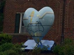 Heart at the Alpha Omicron Pi house, designed by student Allie Laing.
