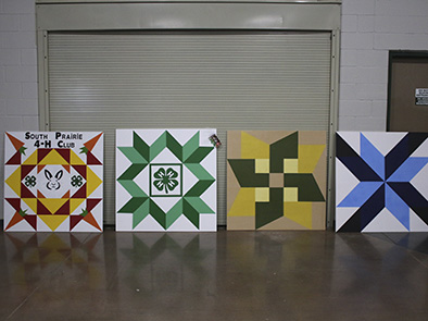 4-H & FFA Barn Quilt entries at the 2016 Lancaster County Super Fair.