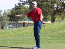 Player of the Year Kramer Samuelson Navigating a Putt at the Kelbel Cup