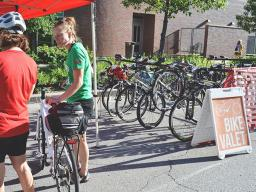 Jazz in June festivalgoers use the Bike Valet during the summer.