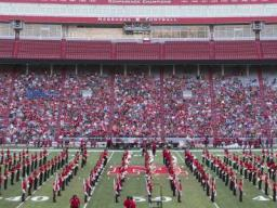The Cornhusker Marching Band presents their annual exhibition performance on Friday, Aug. 18 in Memorial Stadium.