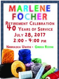 Marlene Focher's retirement celebration