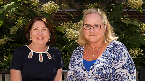 Ramona Schoenrock (L) and Sheree Moser (R) were recently recognized for teaching excellence by the Association for Career and Technical Education (ACTE).