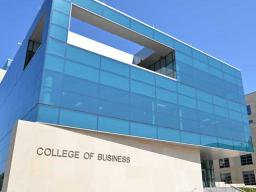 The new College of Business opens this fall.