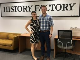 Marissa Piette, left, played an active role in recruiting Grant Weber to join The History Factory in Washington D.C.