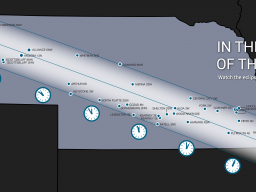 Thirty weather stations in Nebraska are within the path of total eclipse.   Graphic by Shawna Richter-Ryerson