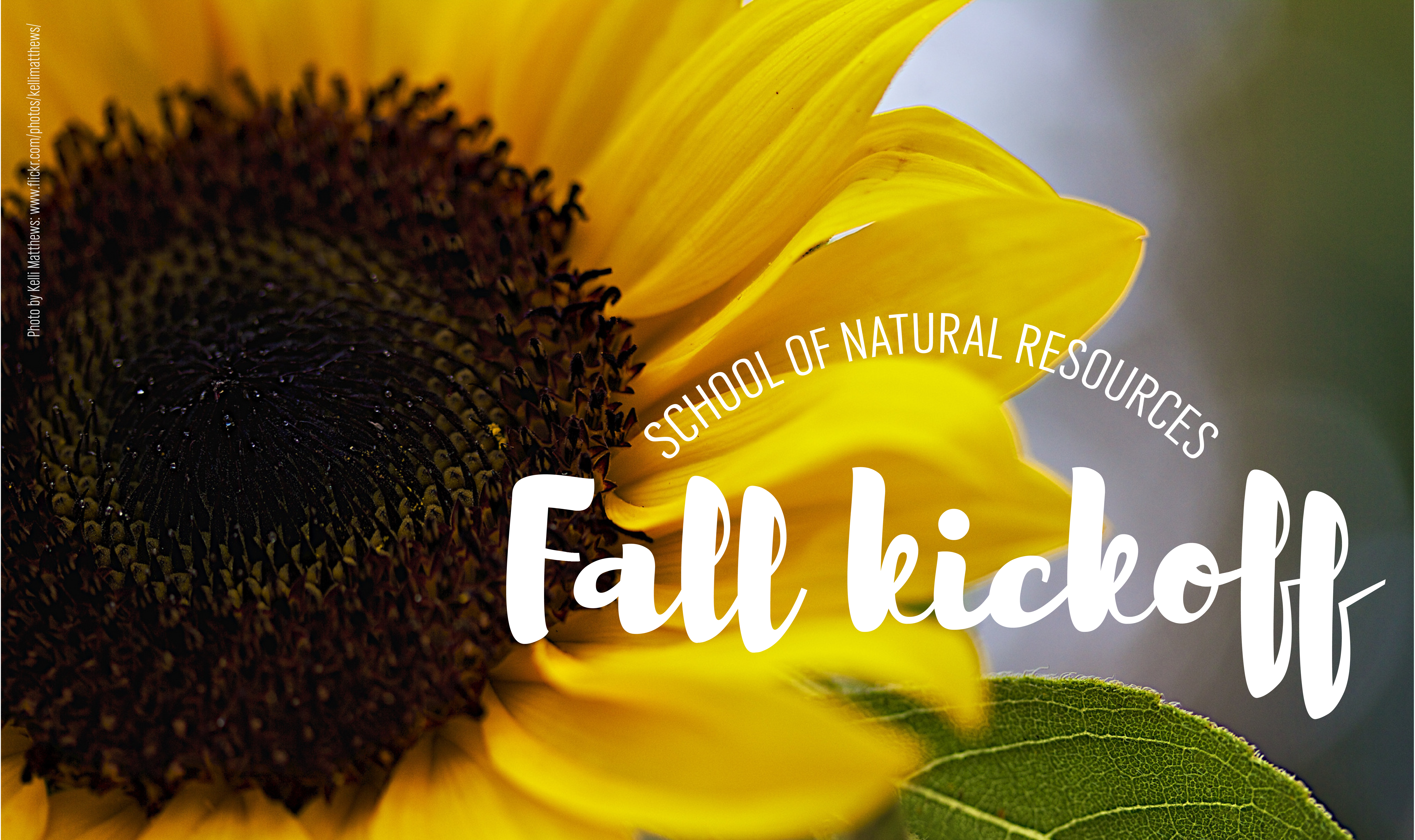 The SNR Fall Kickoff is set for Friday, Aug. 18, 2017.   Flick image by Kelli Matthews