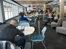 The Adele Coryell Hall Learning Commons are a popular study space on Nebraska's City Campus.