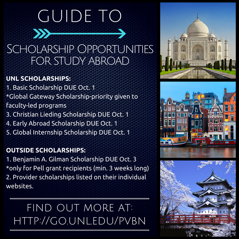 Study Abroad Scholarship Deadlines