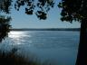 The Missouri River flows past Yankton Riverside Park in Yankton, S.D.