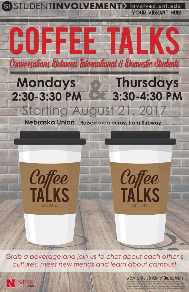 Join us for Coffee Talks