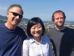 Kiewra, Luo and Flanigan in Freiburg, Germany.