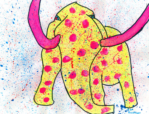 This mammoth depiction by Tara Buettner of St. Edward was awarded first place in the fourth- to fifth-grade category in 2010.