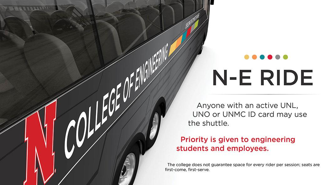 N-E Ride buses run weekdays.