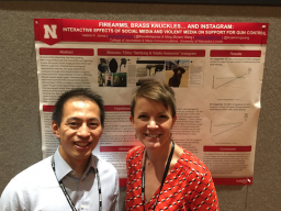 Bryan Wang and Valerie Jones at the AEJMC conference in Chicago.