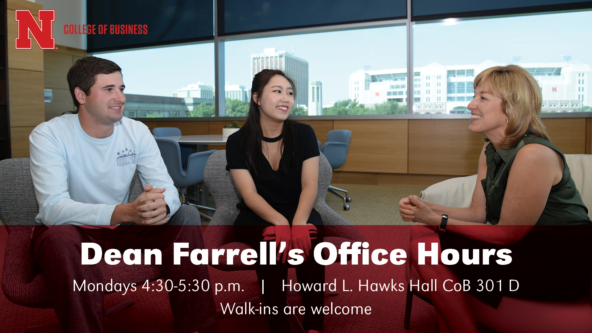 Stop by to talk with Dean Farrell