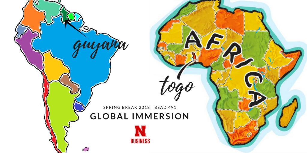 Guyana and Togo