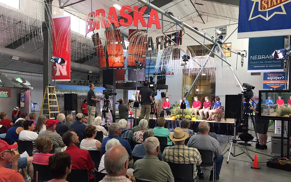 "The first live taping of ""Backyard Farmer"" was Aug. 30 in the Raising Nebraska Building at the Nebraska State Fair in Grand Island. The next live taping will be Sept. 11 at Kimmel Orchard in Nebraska City. (NET Nebraska)"