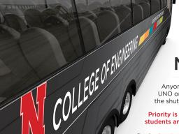 N-E Ride now offers buses to transport students, faculty and staff between Lincoln and Omaha.