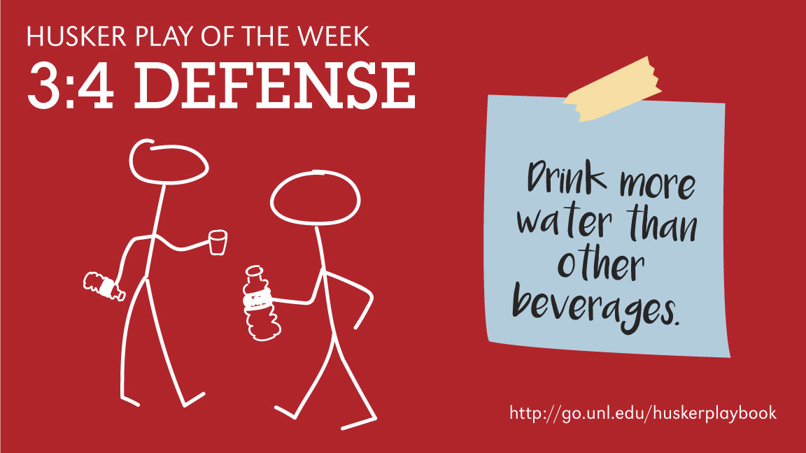 3:4 Defense - Drink more water than other beverages.