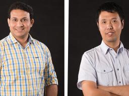 Md. Rashaduzzaman and Bingnan Mu, TMFD PhD Students.