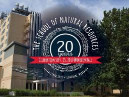 The School of Natural Resources turns 20 this year.
