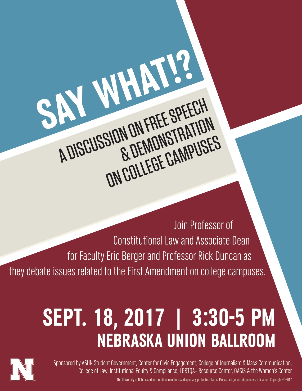 Constitution Day Discussion: Free Speech on College Campuses