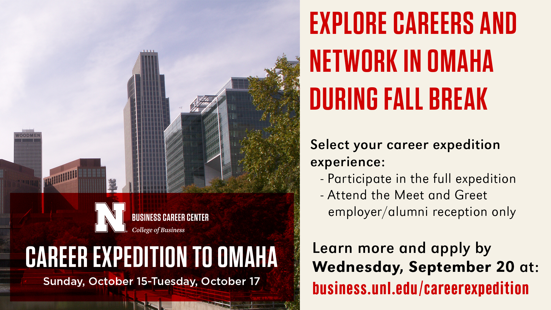 Career Expedition to Omaha   Announce   University of ...