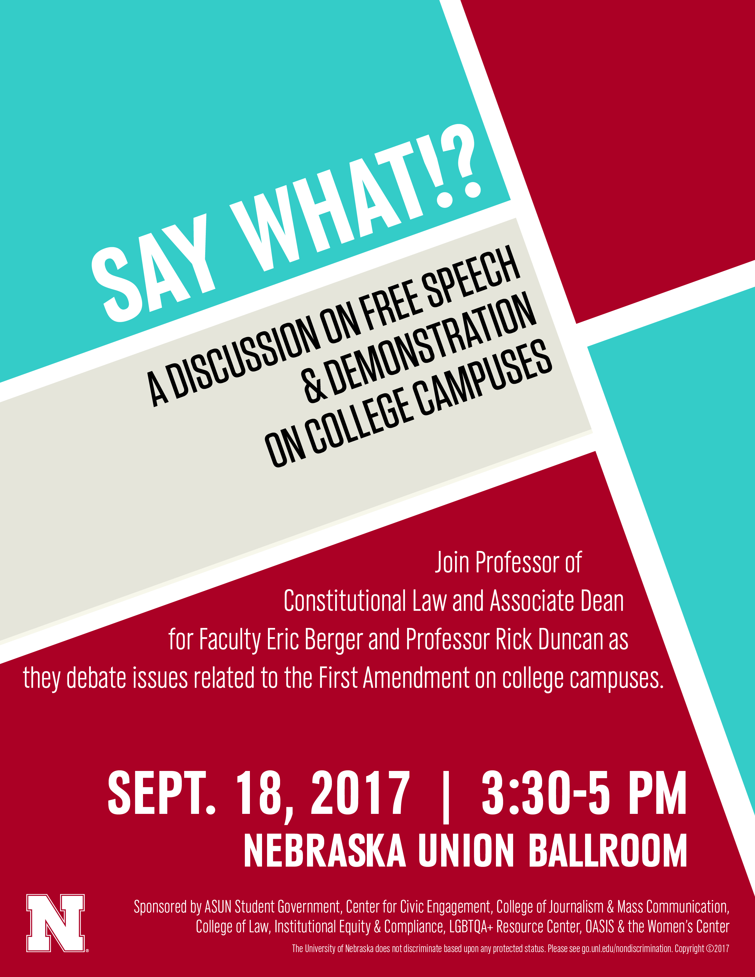 Constitution Day activity at the University of Nebraska-Lincoln will examine freedom of expression.