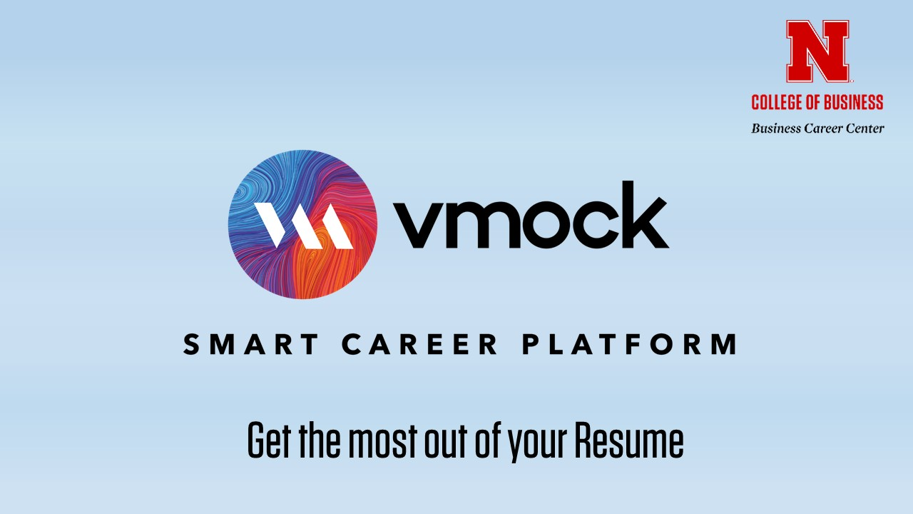 vmock online resume review announce university of nebraska lincoln