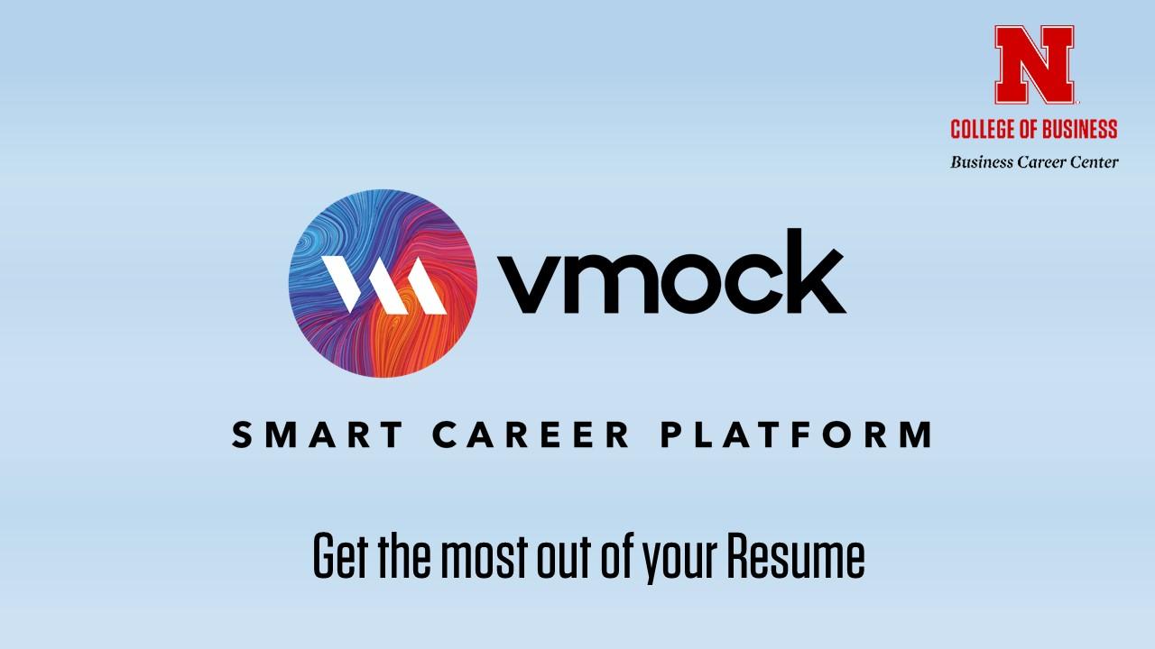 vmock online resume review announce university of nebraska