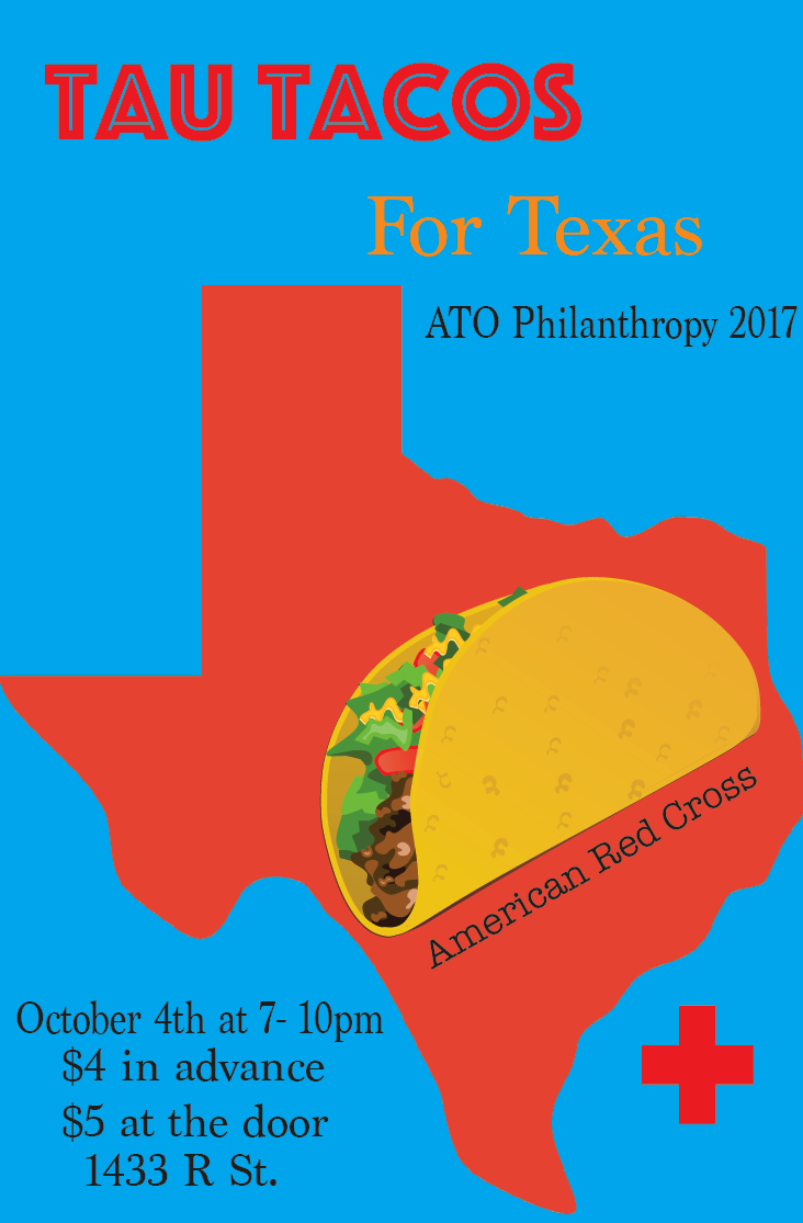 Alpha Tau Omega is hosting a dinner to benefit hurricane relief efforts in Texas.