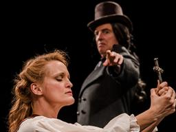 "Abbey Siegworth and Don Richard star in ""Abigail/1702,"" which opens the Nebraska Repertory Theatre season on Sept. 30."