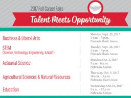 2017 Career Fairs