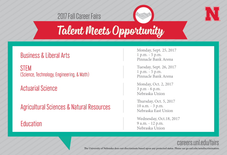 2017 Fall Career Fairs: Talent Meets Opportunity